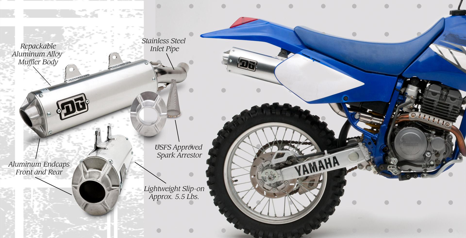 DG Yamaha Tri Moto 225 RCM Exhaust Pipe Muffler; 04-4103